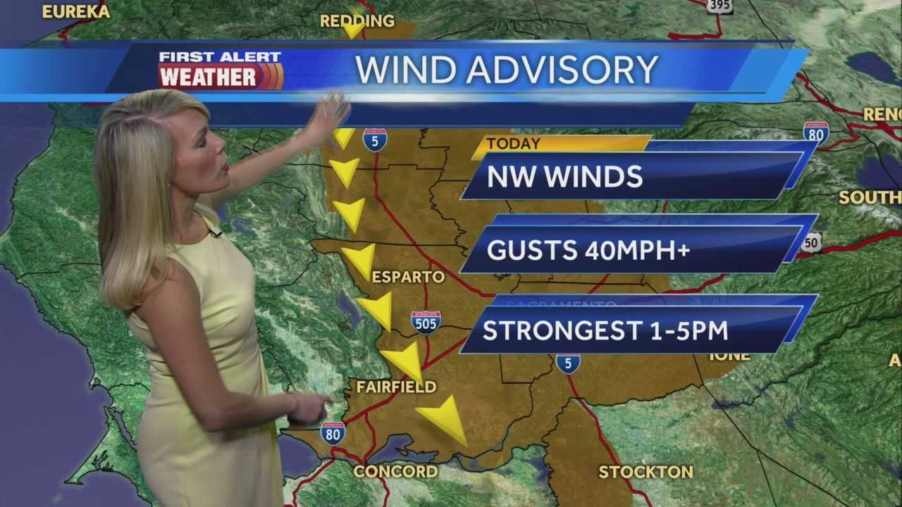 First Alert Weather Meteorologist Tamara Berg shows us when the North winds will be strongest and when they'll go away.