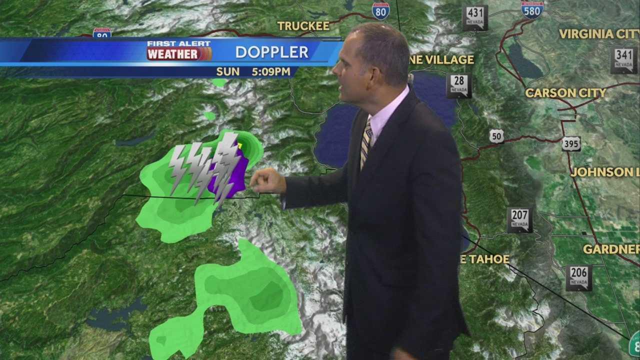 KCRA 3 First Alert Weather meteorologist Dirk Verdoorn tracking coastal cool, valley heat and sierra t-storms.