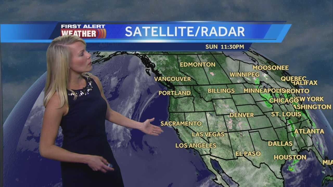 First Alert Weather Meteorologist Tamara Berg shows us when we may have some showers this week.