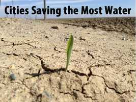 See which cities saved the most gallons of water (based on percentage) from June 2014-15, compared to the same time period in 2013-14.