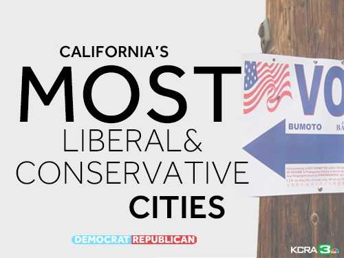 See which California cities have the most registered Republicans and Democrats.