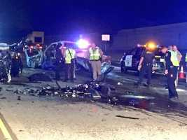 Four people died in a multi-vehicle crash on westbound Highway 50 in Sacramento on April 22.