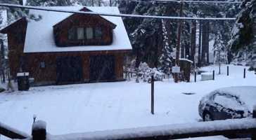 Snow in Meeks Bay
