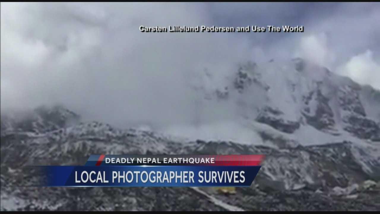 Charleton Churchill of Jackson, was on Mount Everest when the devastating earthquake struck Nepal
