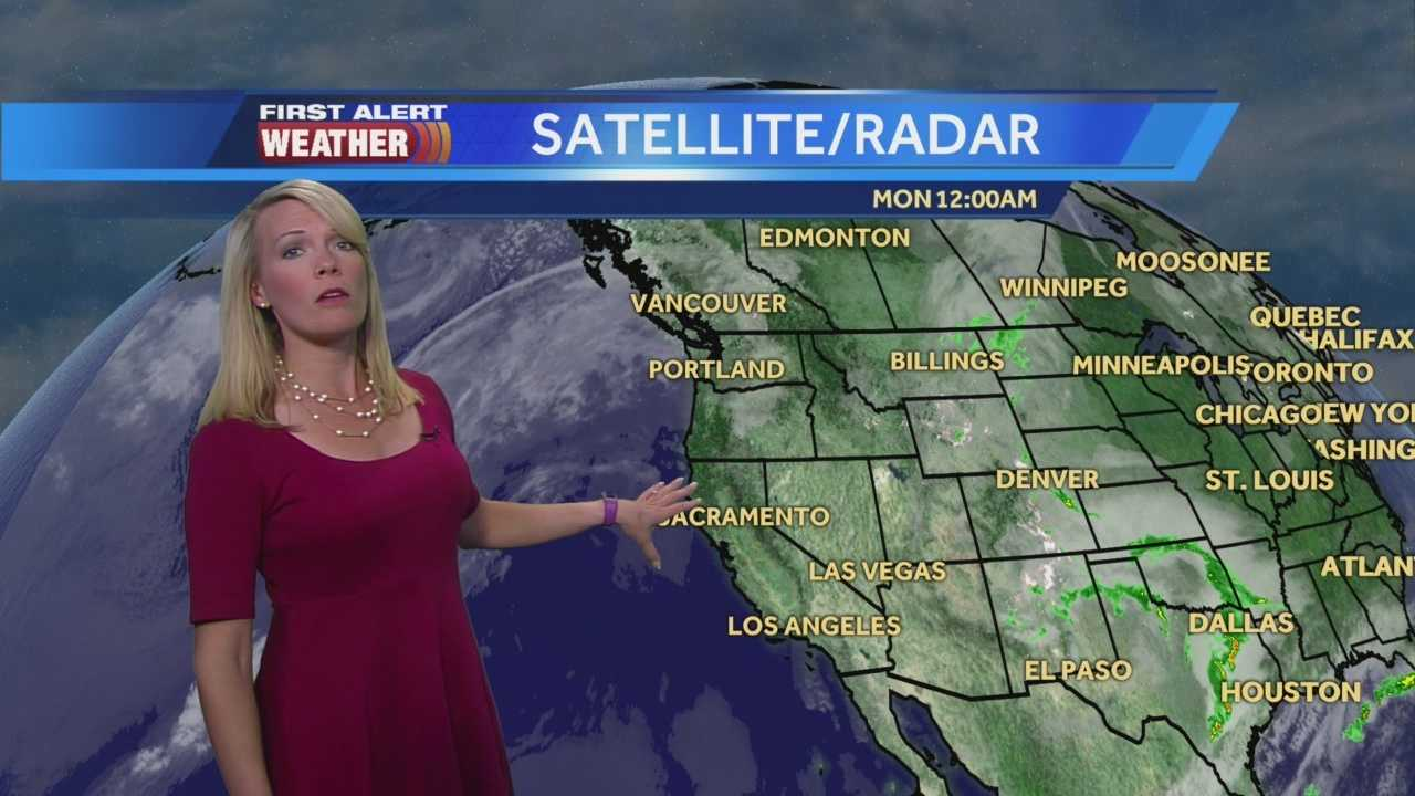 First Alert Weather Meteorologist Tamara Berg shows us what's ahead for the work week.
