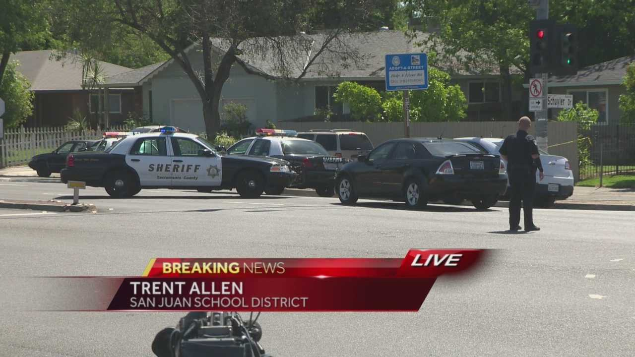 An elementary school was given a shelter-in-place order during a search for a gunman in Carmichael.