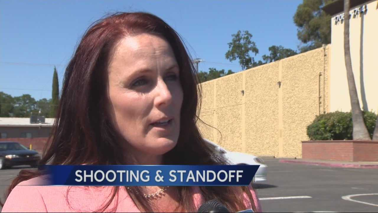 A spokeswoman for the Sacramento County Sheriff's Department said the suspect in Monday's shooting will face multiple counts of assault with a deadly weapon for shooting at not just a woman and deputies, but other bystanders.