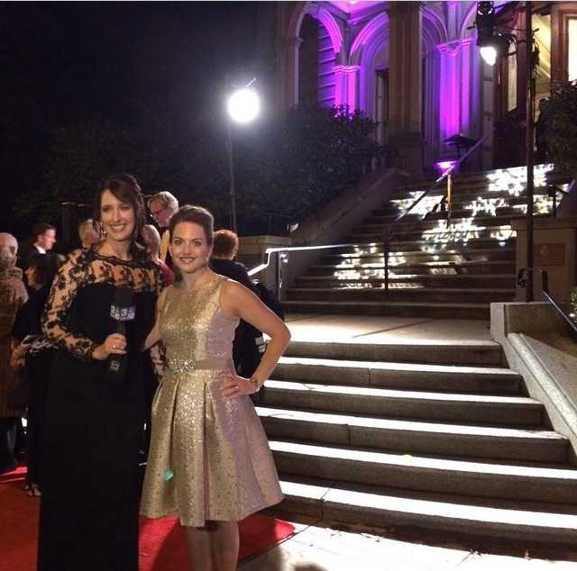"""What's not to enjoy about our glamorous anchors?Here's a fun photo Edie shared this weekend from her #KCRA #Facebook page. She writes, """"On the red carpet of the 53rd annual #CrockerBall with Deirdre Fitzpatrick. We work opposite shifts, so it's a treat to get a night out together!"""" Love it. #sacramento #redcarpet #glam #anchors #tvnews #follow"""