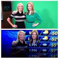 Some behind-the-scenes action:And this is why Tamara never wears green! #tvmagic #greenscreen #behindthescenes #kcra #sacramento #tvnews #sac #sacnews Thanks for sharing the pictures, Deirdre! #morningteam