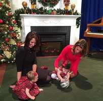 Cute babies + Instagram = a match made in heaven.Cute baby alert! Here's a fun behind-the-scenes look at a holiday promo we shot today. Thanks for sharing the pic, Kellie and Edie! #kcra #sacramento #babies