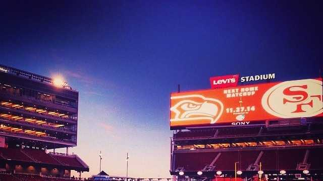 Even if you're not a Niners fan ... can't argue with Levi's Stadium.Gorgeous shot of Levi's Stadium from our photographer, Alan Blaich. @alancamman And it's the first time this season we've been able to say, great wins this week, 49ers and Raiders! #NorCal #nfl #santaclara #levisstadium #49ers #Raiders #sunset #sacramento #kcra #sundayfootball #beatwashington #beatkansascity