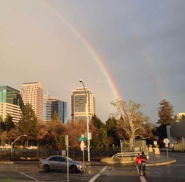Rainbows, double rainbows ... crowd-pleasers.We love getting all the #rainbow and #doublerainbow shots! Tag us or use the hashtag #KCRAwx ... #norcal #northerncalifornia #weather #wx #ulocal Photo: David Bienick