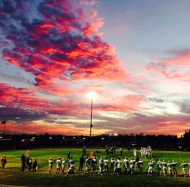 And finally ... high school football. Matched with a killer sunset. Enough said!Going through our #ulocal submissions and I couldn't help but notice how #gorgeous this #sunset was! Stunning. We got a ton of #pics from you guys Friday! Keep sharing and keep tagging us! Especially with your #FridayNightFootball pics! #calaverasgame #hsfootball #myFNFpic #norcalfootball #hssports #hsplaybook #sacramento #sacramentosunset #sacnews #fridaynightlights @kcra3_hsplaybook