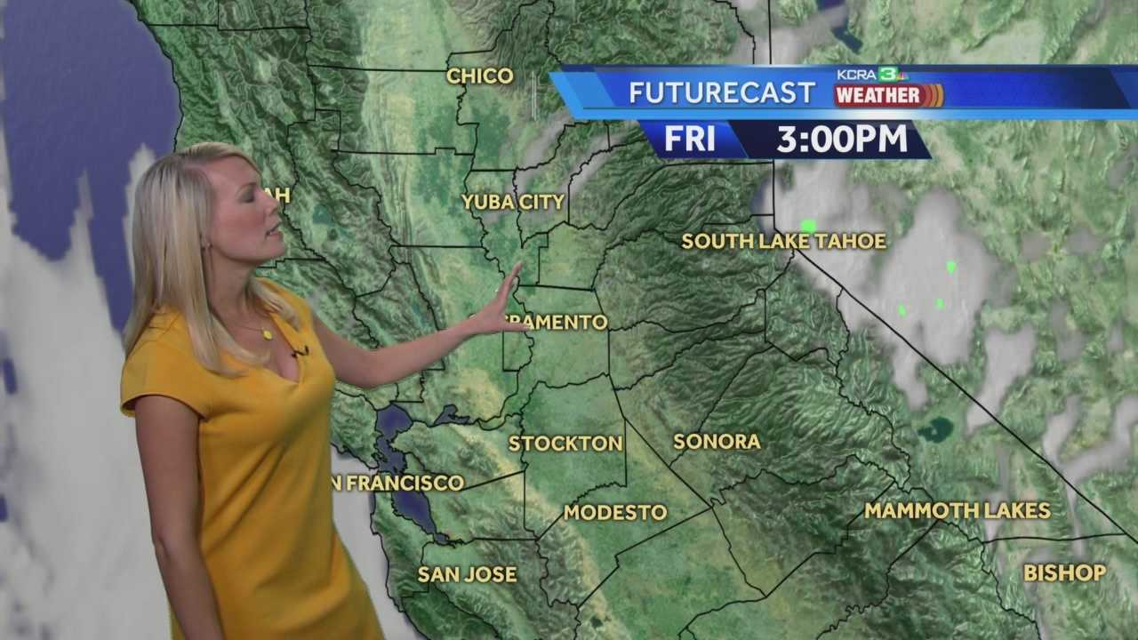 KCRA 3 Weather meteorologist Tamara Berg looks at what is going to cool temps down his weekend.