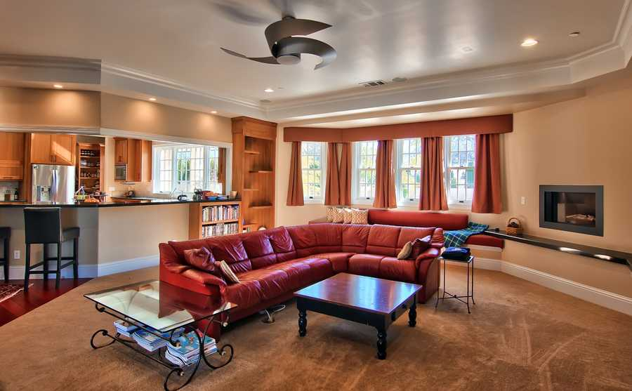 The home features a gourmet kitchen, butler's pantry and wine cellar.
