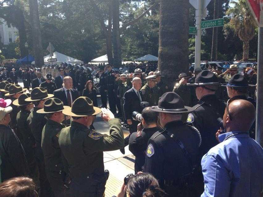 A ceremony was held Monday at the state Capitol to remember officers who died in the line of duty.