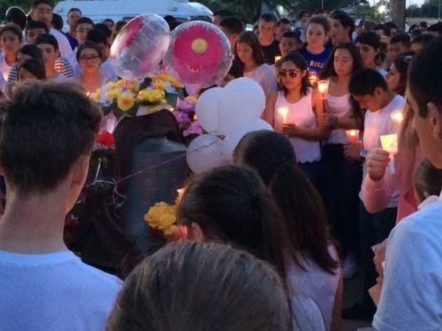 About 500 people attended the event, which was a mix of tears, memories and even some laughter. Mourners released light bags into the air to symbolize the light the lives gave to the community.