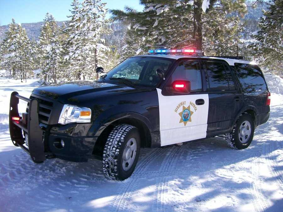 The California Highway Patrol snapped this photo in South Lake Tahoe, warning drivers to be careful on area roadways. (May 7, 2015)