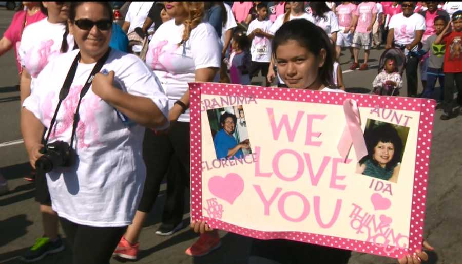 Friends, family and breast cancer survivors came together to raise money for cancer awareness.
