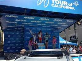 Leah Kirchmann of Canada is the winner of Sunday's women's Amgen Tour of California.