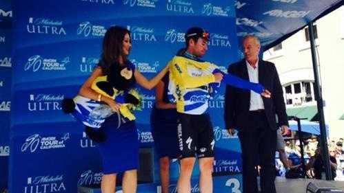 Mark Cavendish, the winner of Stage 1 (May 10, 2015)