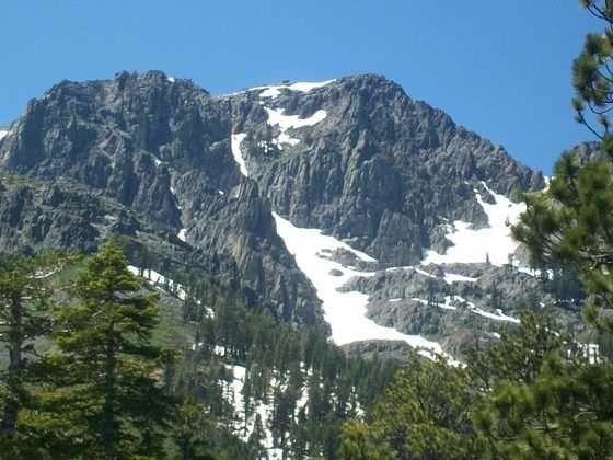 Here's Mt. Tallac, near South Lake Tahoe -- this photo was taken on a hike behind Fallen Leaf Lake.