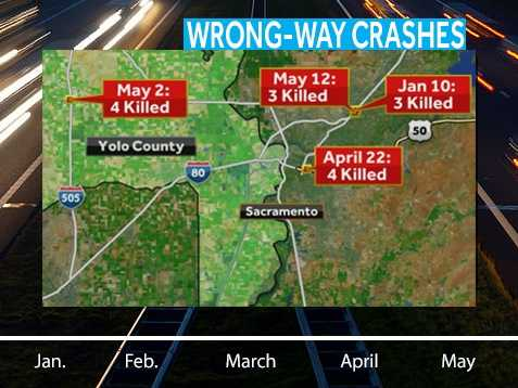Here's a map of where the deadly crashes happened.
