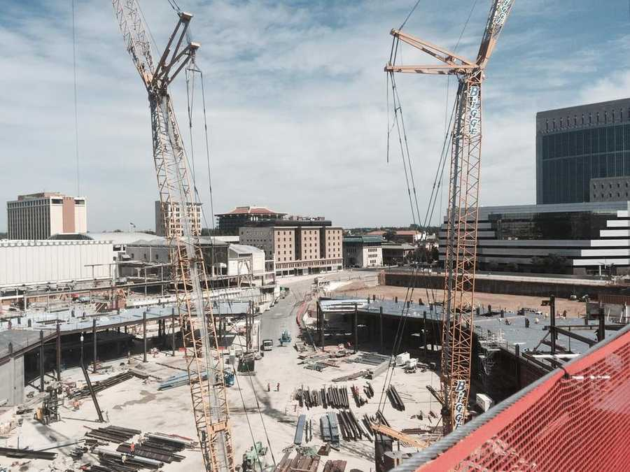 KCRA's Sharokina Shams and photographer Marcelino Navarro were part of a handful of media members who toured the inside of the downtown Sacramento arena construction site Wednesday. Take a look at these 15 photos from the tour.
