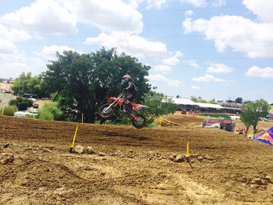 KCRA's Michelle Dapper went behind the scenes of the Hangtown Motocross Classic, which is taking place May 16 in Prairie City. See the photos.