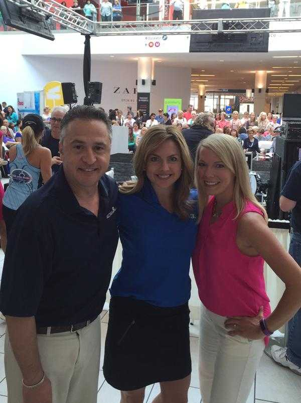 Tamara Berg, Teo Torres and Deirdre Fitzpatrick are at the Roseville Galleria supporting the 2015 Health and Wellness Festival.