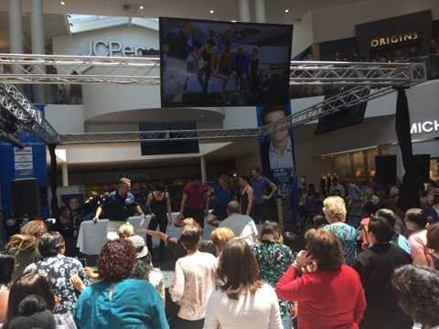The crowd enjoys the company of Dr. Oz during the 2015 Health and Wellness Festival on Saturday.
