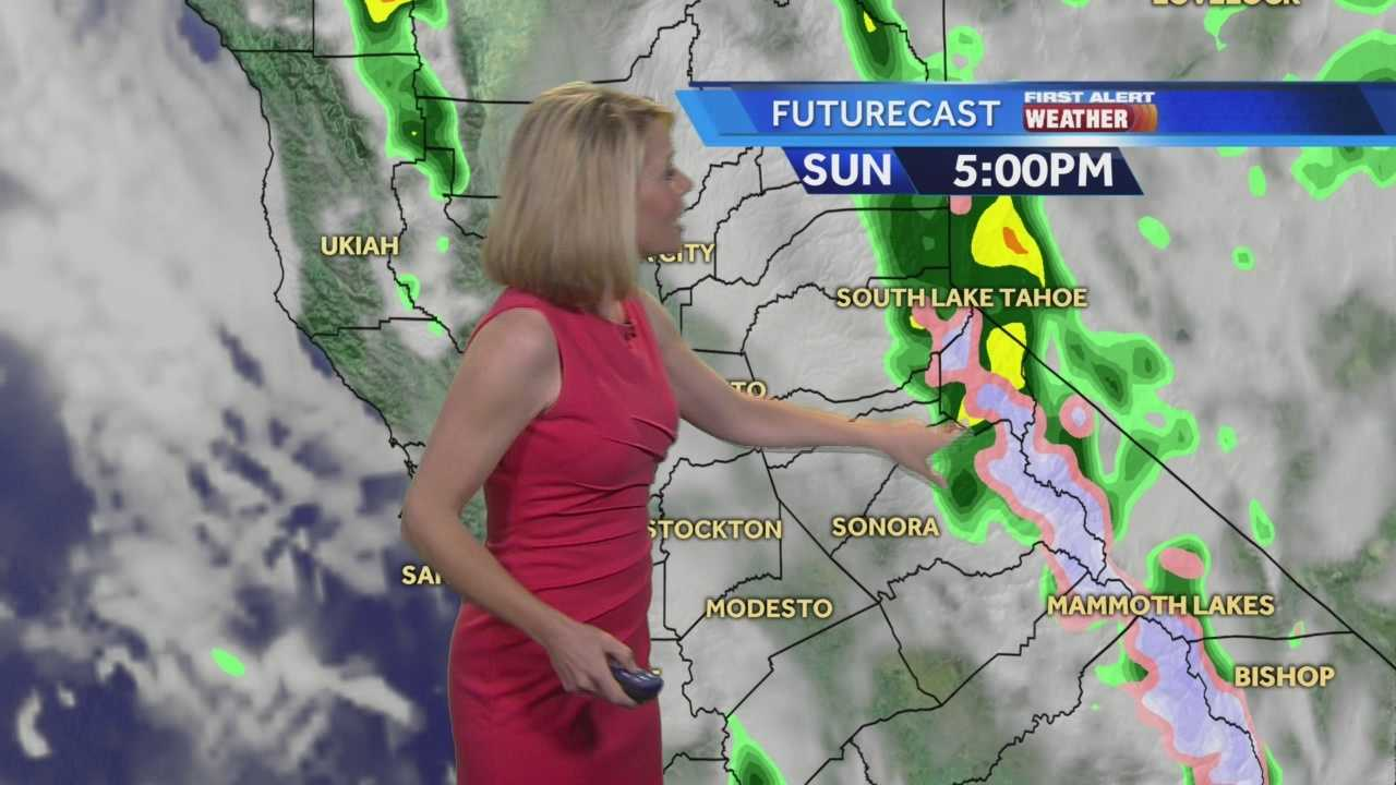 KCRA 3 Meteorologist Eileen Javora shows where to expect showers today.