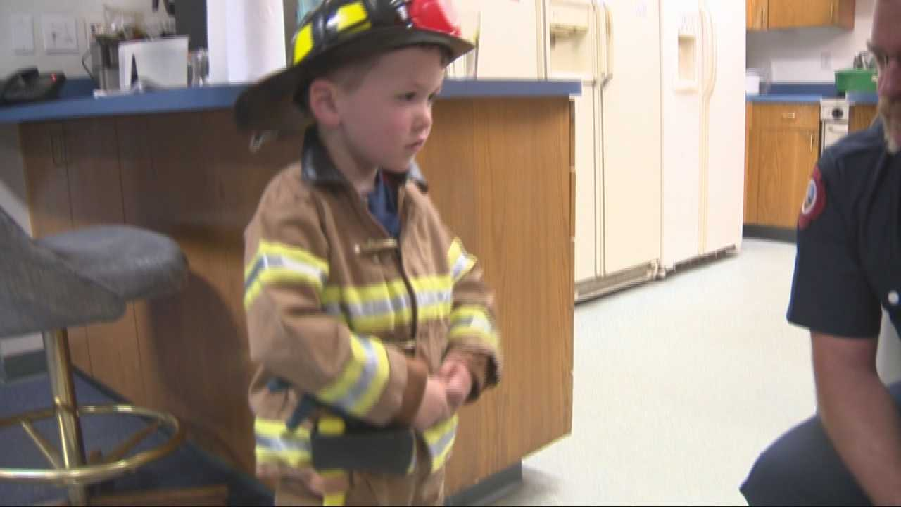 A little boy's generosity leads to a special honor from the Vacaville Fire Department.