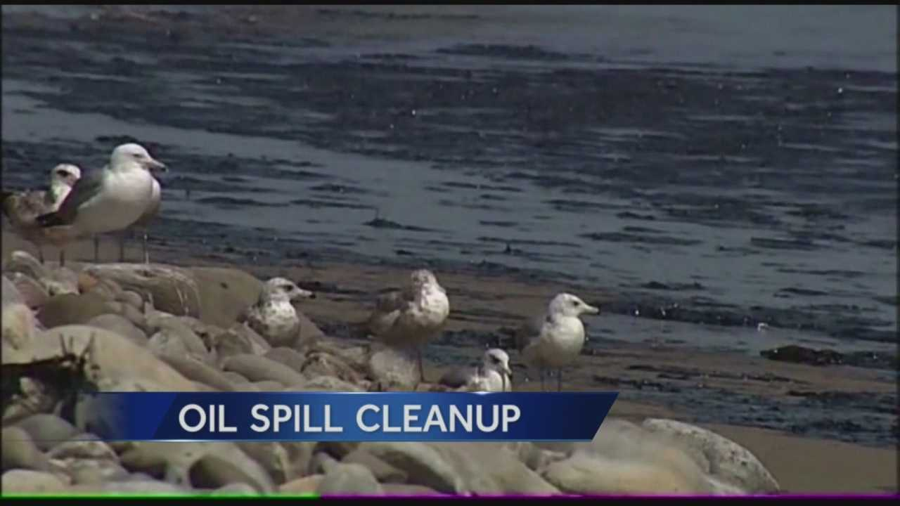 Cleanup of the estimated 105 thousand gallons of oil spilled on Refugio Beach in Santa Barbara County is underway.