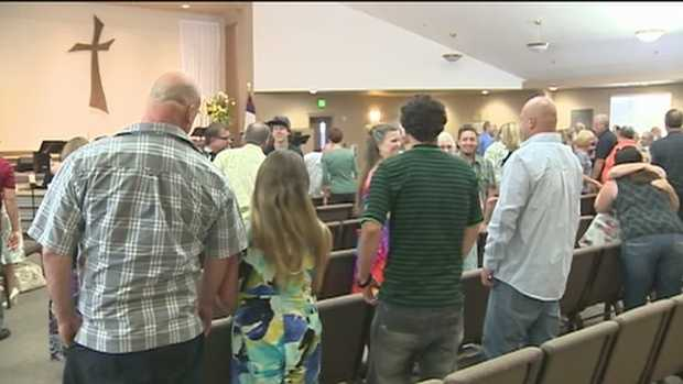Sunday, May 12, 2013 -- People pack the Good Samaritan Community Covenant Church in Valley Springs to pray for the Fowler family, just one day after police announce Leila's brother's arrest. The boy is expected to be charged with homicide.