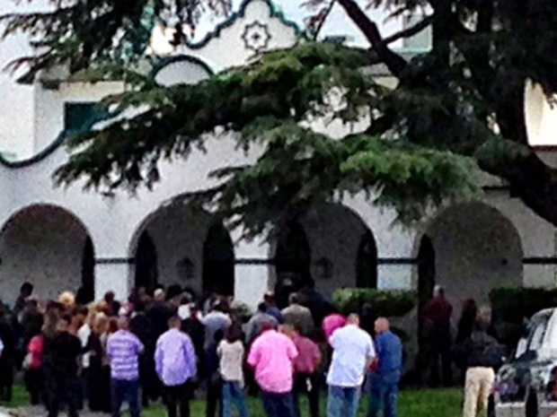 Tuesday, May 7, 2013 -- Hundreds gather at the Park View Cemetery in Manteca for Leila's private funeral service. Police say they're reluctant to release much more information, because they don't want to taint the ongoing investigation. Authorities still haven't said if they've recovered a murder weapon.