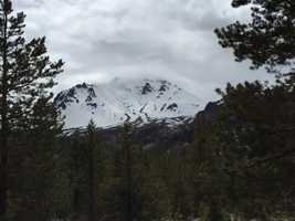 KCRA's David Bienick snapped this photo of what Lassen Peak looks like 100 years after the explosion.