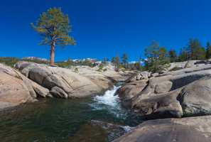 The Silver Fork of the American River near Kirkwood meanders through mounds of granite rocks, creating a gorgeous view and some cool swimming holes, known as the Potholes.