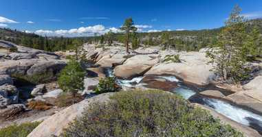 The pools are an easy hike from the Silver Lake West Campground or nearby Highway 88.