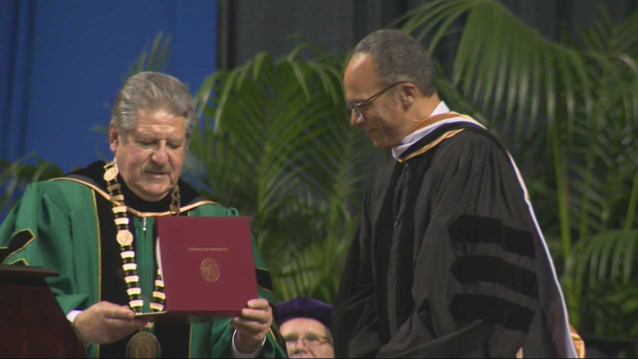 You know him as NBC anchor man Lester Holt, but now you can call him Dr. Lester Holt. he returned to his hometown and recveived and honorary doctorate from Sacramento State and spoke to graduates.