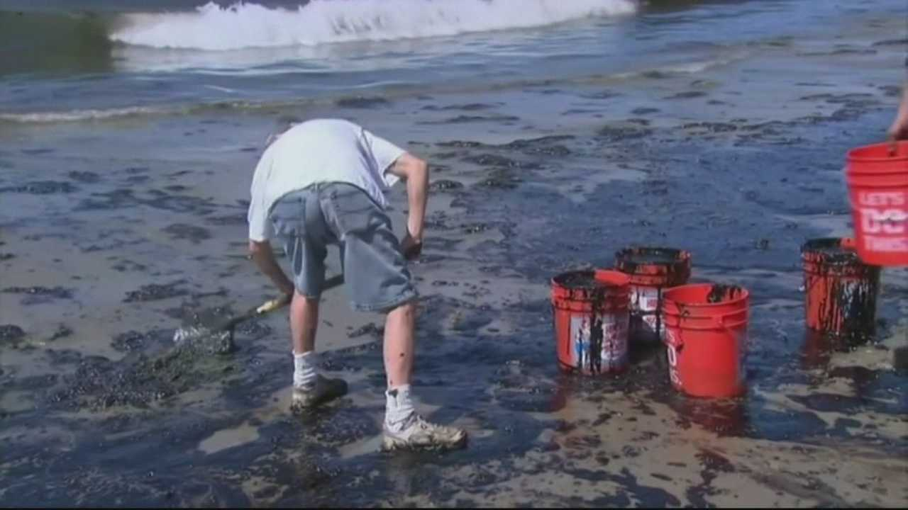 More than 10,000 gallons of oily water have been removed from the ocean.