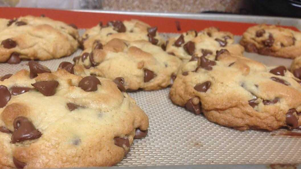 12.) Let the cookies cool a few minutes on the baking sheet before transferring them to a plate or a cooling rack. This firms them up and completes the actual baking process.