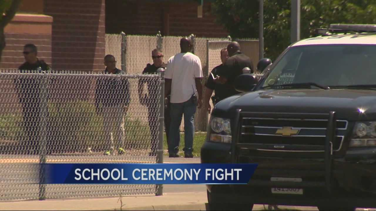 A fight between parents broke out at a promotion ceremony for Smedberg Middle School students.