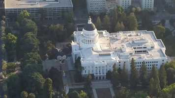 "Mickey Mouse and friends stopped by the state Capitol as lawmakers paid tribute Monday to the self-proclaimed ""Happiest Place on Earth"" by declaring June 1 ""Disneyland Day."" See photos from LiveCopter3."