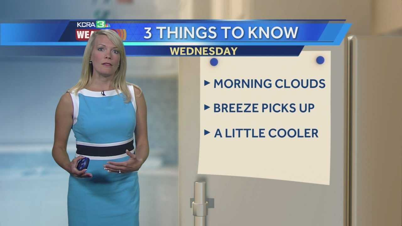KCRA 3 Weather meteorologist Tamara Berg explains the three things to expect today.