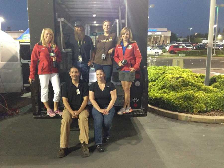 KCRA and the Red Cross Capitol Region teamed up Friday at the Roseville Automall to gather needed items for deployed troops.