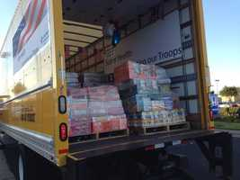 Sutter Health brought four truck loads of donations for U.S. troops as part of Operation Care Package.