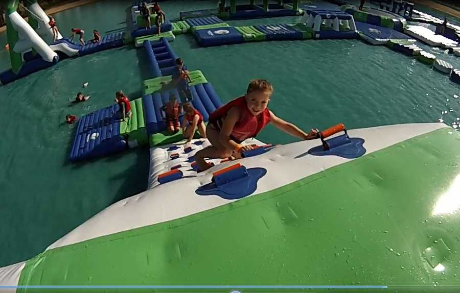 Take a tour of the new Aqua Park at Wake Island, which is located just west of Roseville.