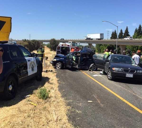 I-80 traffic was diverted to eastbound Highway 50. (June 16, 2015)