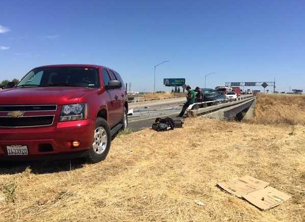 One person was taken to the hospital with major injuries, and four others suffered minor injuries. (June 16, 2015)